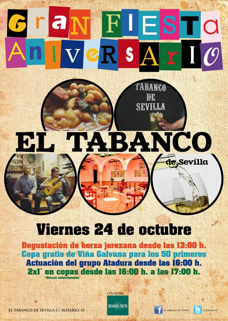 Cartel El Tabanco - Aniversario