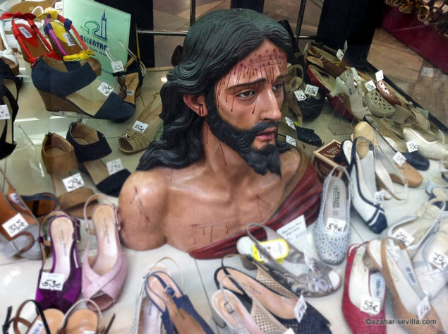 jesus among the shoes