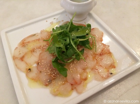 vineria prawn carpaccio