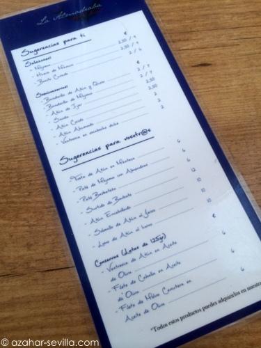 la almadraba menu